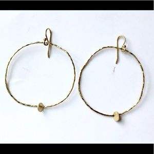 ARTISAN Sterling silver Dangle Hoop Earrings 925